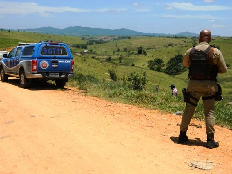 Local onde o cadáver foi localizado. (Foto:Arnaldo Alves / ItapebiAcontece)
