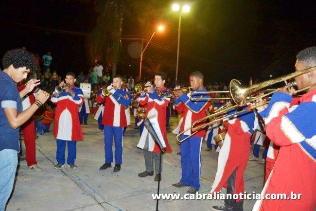 Fanfarra de Itagimirim participou de evento em Santa Cruz de Cabrália. (Foto: Cabrália Noticias)
