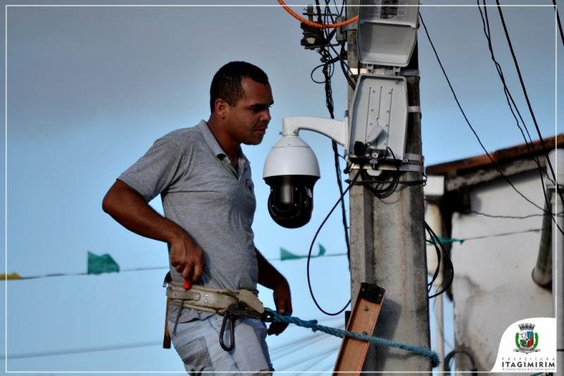 A população de Itagimirim conta com 160 câmeras espalhadas pela cidade. (Ascom-Itagimirim)