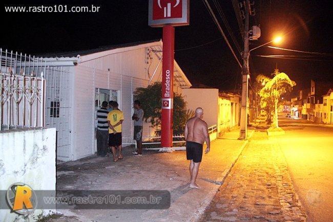 Agência bancária fica na avenida principal, no centro da cidade. (Foto: Rafael Amaral / Rastro 101)