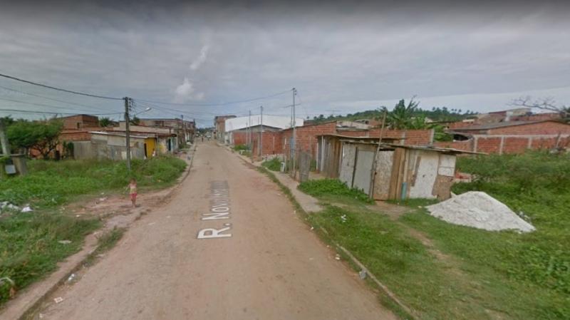 Bebê foi encontrado em um loteamento na Rua Novo Horizonte. (Imagem: Google)