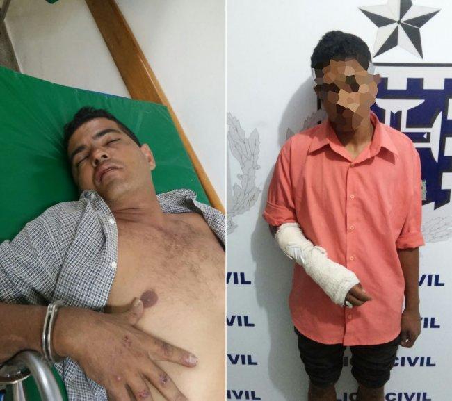 Pai e filho roubaram a moto e tentaram cometer um homicídio em Porto Seguro. (Foto: Divulgação/PM Itagimirim)