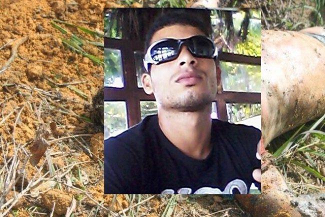 Corpo de Dácio estava enterrado em uma cova rasa em um bairro de Porto Seguro. (Foto: Obaianão/facebook)