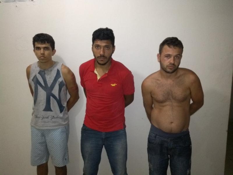 Os três criminosos são moradores de Eunápolis. (Divulgação / Polícia Militar-MG)