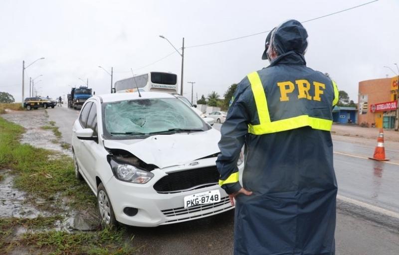 Acidente ocorreu no perímetro urbano da cidade de Eunápolis. (Imagem: Radar64)