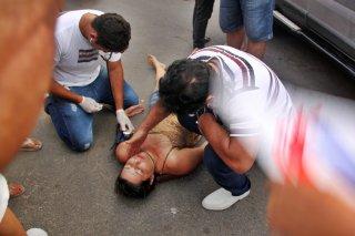 Alane recebeu atendimento médico antes da chegada do SAMU. (Foto: Rastro101)