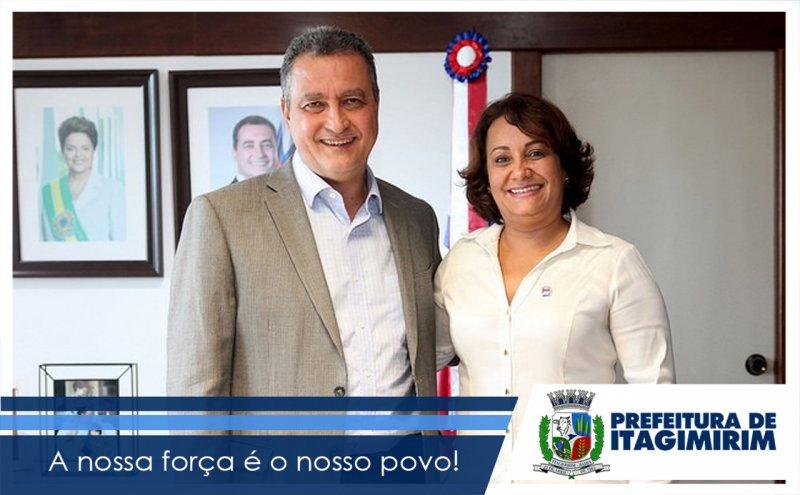 Governador da Bahia, Rui Costa, e a prefeita de Itagimirim Devanir Brillantino (Divulgação)