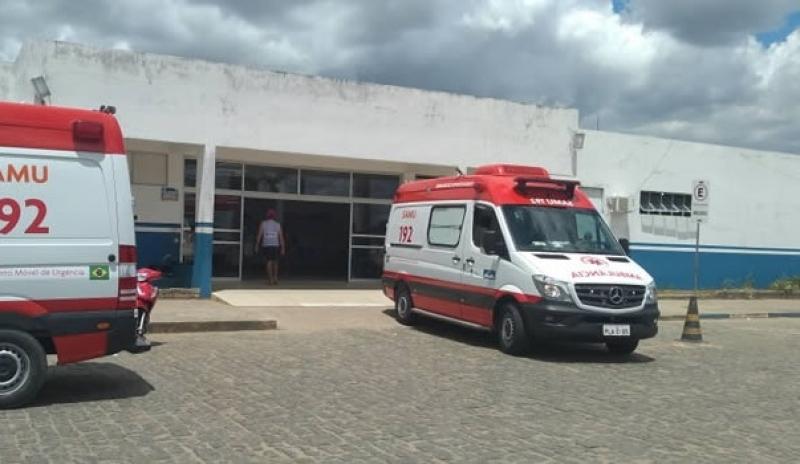 Vítima foi encaminhada ao Hospital Municipal de Itamaraju. (Itamaraju Notícias)