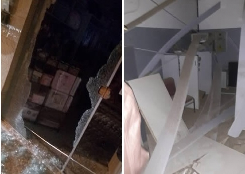 Ataque deixou um rastro de destruição na cidade. (Imagem: Itamaraju Notícias)