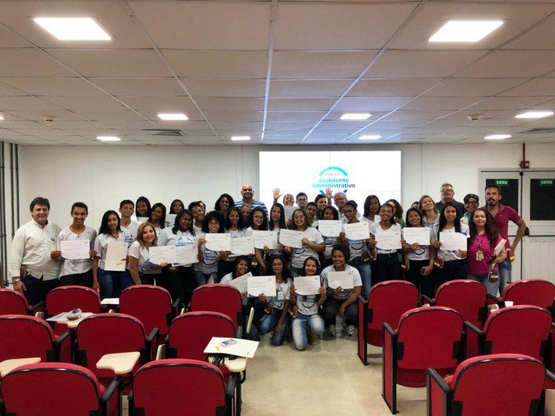 Mais uma turma do curso de Assistente Administrativo foi concluída fruto da parceria entre Veracel Celulose e o SENAC.  (Ascom/Veracel)