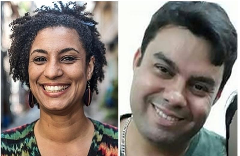 A vereadora Marielle franco e o motorista Anderson Gomes foram mortos a tiros na noite de 14 de março de 2018. (Imagem: Reprodução)