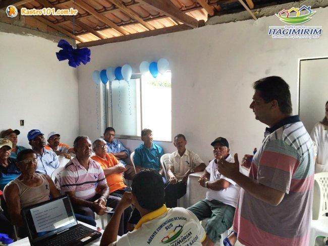 Prefeito Rogério Andrade esteve presente e ressaltou a importância de se realizar exames de rotina. (Foto: Divulgação)