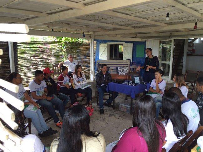 Participantes de uma das turmas do curso de Desenvolvimento Comunitário (Ascom/Veracel)