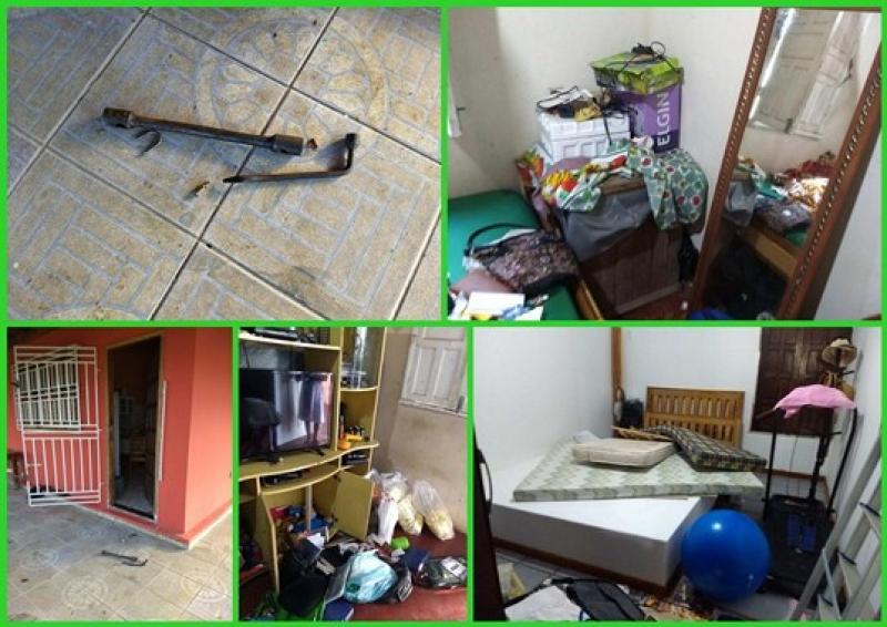Bandidos reviraram imóveis em busca de objetos de valor. (Fotos: Arnaldo Alves / ItapebiAcontece)