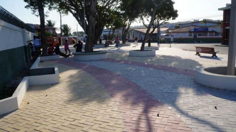 Praça onde ocorreu o homicídio