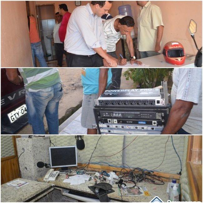 Sede da rádio foi fechada e equipamentos apreendidos. (Foto: Guto Stolze)