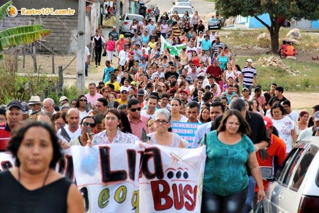 Familiares e amigos realizam quarta caminhada em favor à cobrança no resultado das investigações na morte de Rielson Lima. (Foto: Rastro101)