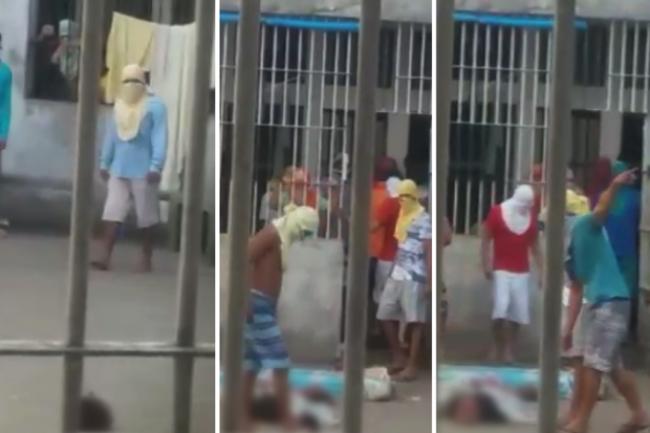 Presos jogam futebol com cabeça de detento no Ceará. Fonte: site correio 24 horas