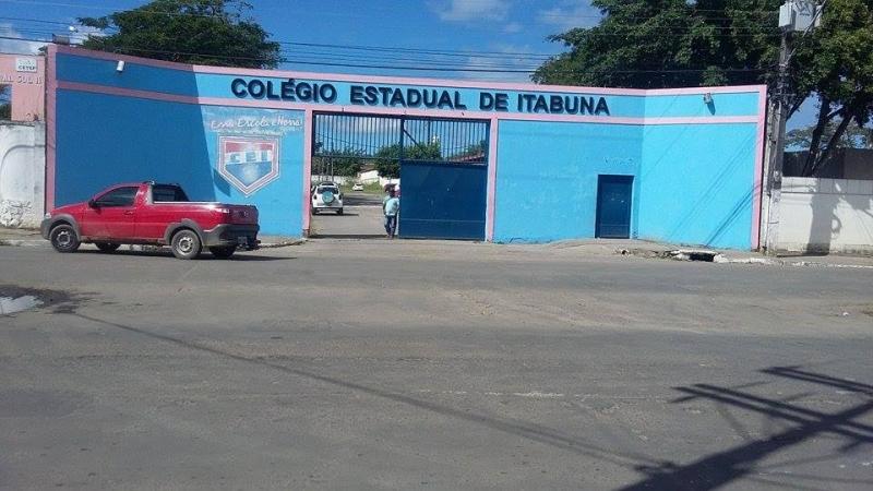 Colégio Estadual de Itabuna, local do ocorrido. (Reprodução)