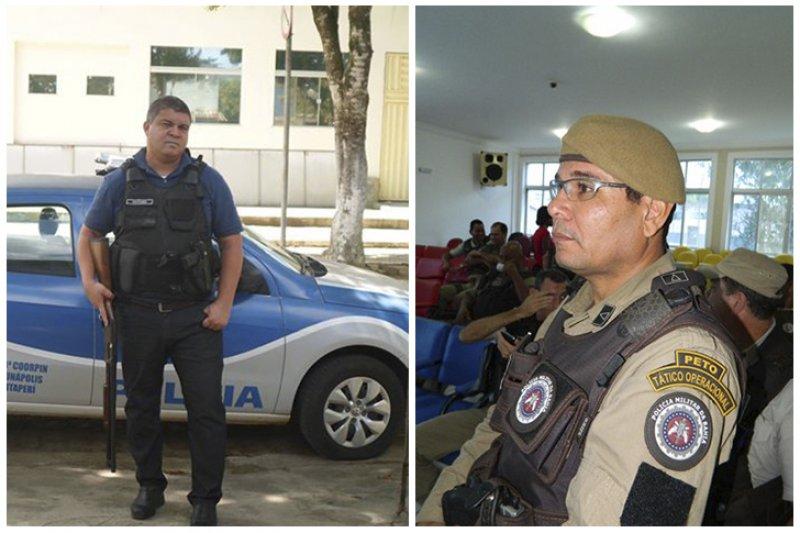 Palestrantes: delegado da Polícia Civil Jansen Baeta e do Comandante da Policia Militar, o Subtenente PM Robson Santos