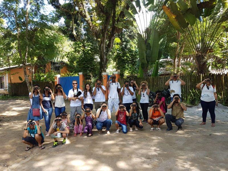 Cerca de 1000 pessoas entre crianças, jovens, adultos e observadores de aves com foco na preservação ambiental (ASCOM/VERACEL)