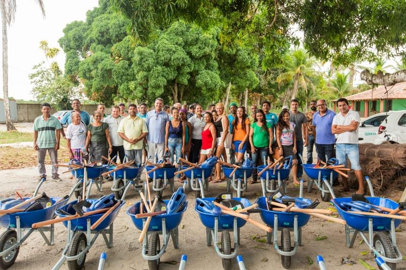 O projeto disponibiliza, em regime de comodato, áreas de recuo do plantio de eucalipto para o desenvolvimento da agricultura familiar. (Divulgação/Veracel)