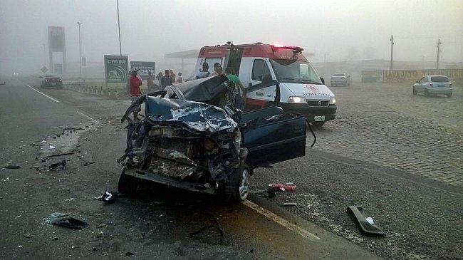 Vítimas foram atendidas pelo SAMU e encaminhadas ao hospital