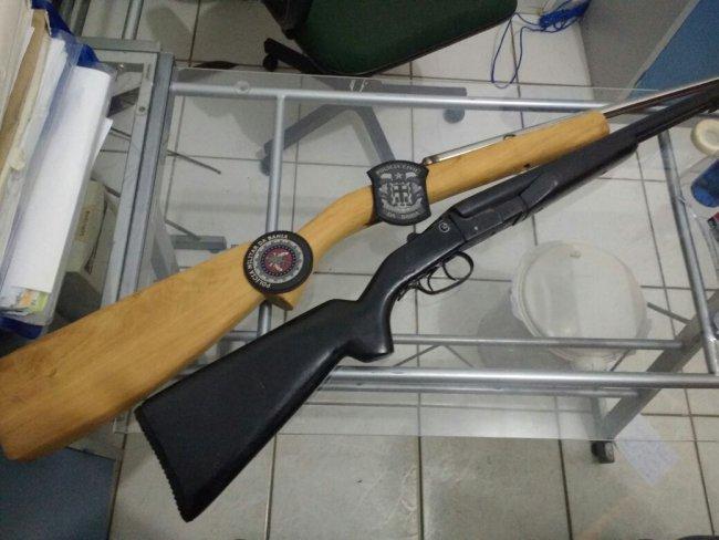 Armas foram apreendidas pela polícia. (Divulgação/Polícia)