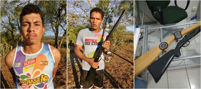 Anderson e Wanderson foram presos portando arma e confessaram furto em casa de idoso em União Baiana. (Foto: Divulgação/Polícia)