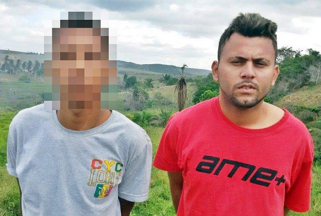 Dupla foi perseguida pela Polícia Militar de Itagimirim. (Foto: Divulgação/PM)