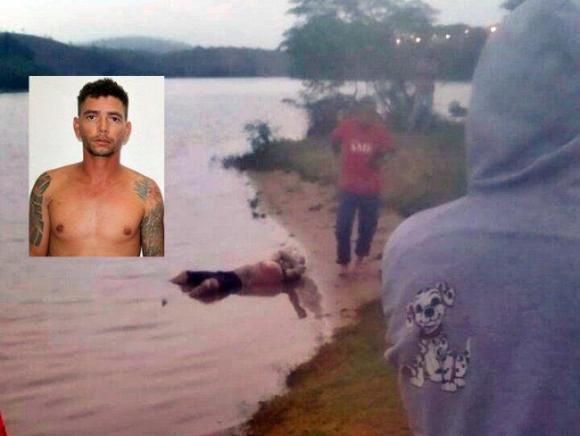 Corpo boiando às margens do Rio Jequitinhonha foi encontrado por populares no Salto da Divisa. (Divulgação)