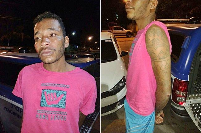 Seu Madruga foi preso após roubar o Trailer do Barbosa, no centro de Itagimirim; comparsa fugiu. (Foto: Divulgação)