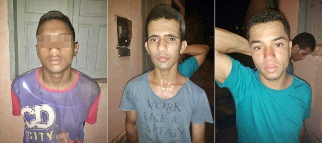 Os três foram presos pela Polícia Militar de Itagimirim após cometer diversos crimes na cidade. (Foto: PM)