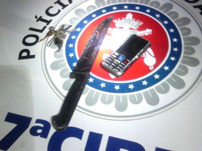 A arma usada no crime. (Foto: Rastro101)