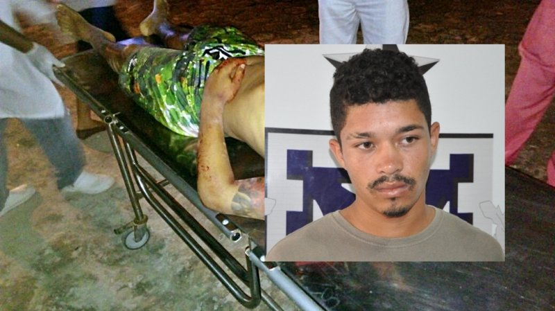 Homem já tinha passagens pela polícia por tráfico de drogas e homicídio. (Foto: Rastro101 e Arquivo/Radar64)