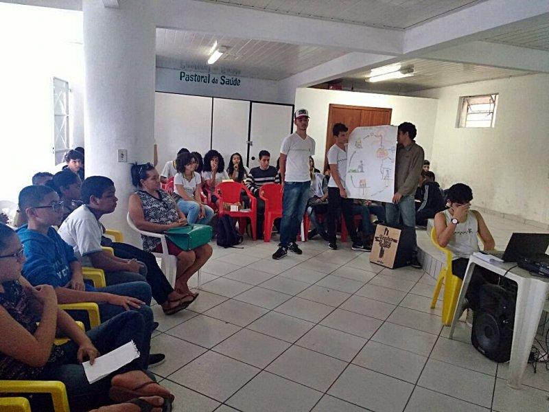 41 alunos do IFBA apresentaram o Seminário para alunos do Othoniel em Itagimirim (Divulgação)