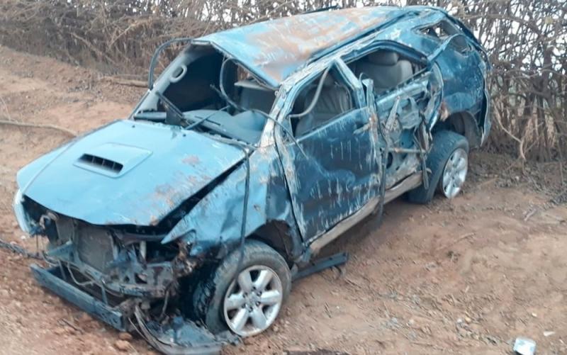 Veículo capotou várias vezes. (Blog Braga)