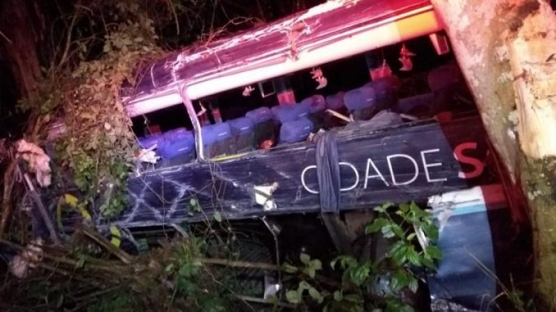 Ônibus e carreta colidiram próximo a Uruçuca. (Reprodução)
