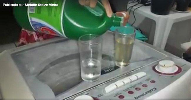 Vídeo feito pela psicóloga mostra o processo de reação química. (Divulgação)