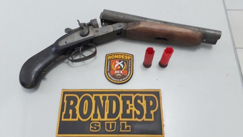Arma apreendida com o suspeito. (Divulgação/PM-BA)