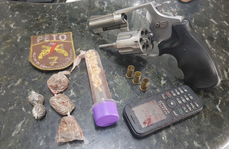 Material apreendido pela polícia (Imagem: Via41)