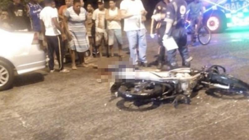 A vítima teve morte instantânea. (Foto: Primeiro Jornal)