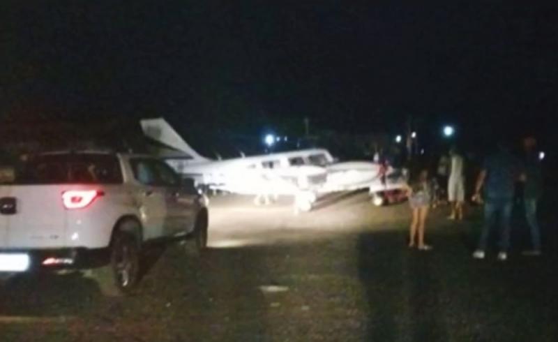 Aeronave transportava o cantor Amado Batista para uma apresentação em Jequié. (Foto: Reprodução/TV Bahia)