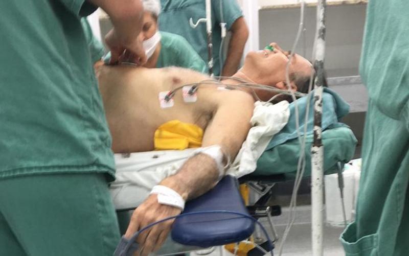 Momento do procedimento cirúrgico. (Foto: Arquivo pessoal/G1)