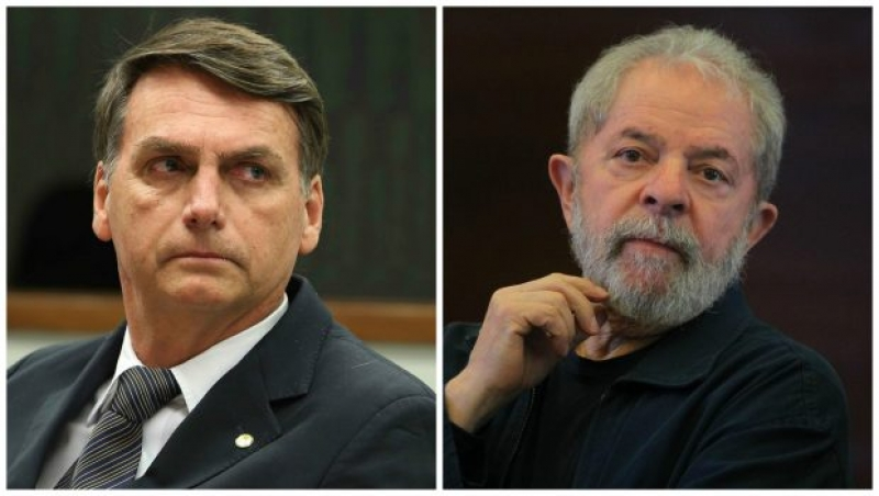 Lula e Bolsonaro são apontados como principais concorrentes ao Planalto. (Imagem: Reprodução)