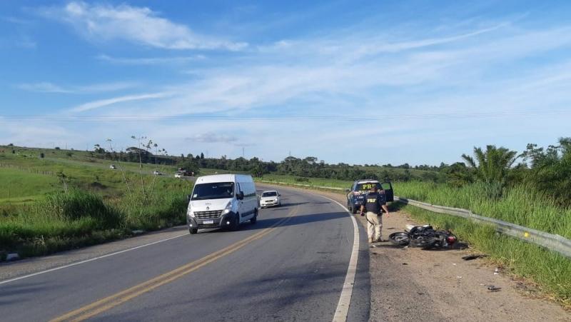 Acidente aconteceu na Curva da Visgueira. (Radar64)