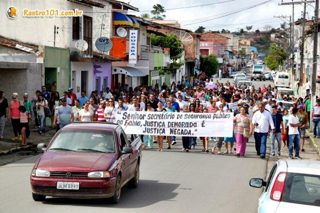 Caminhada em busca de justiça pela morte de Rielson Lima. (Foto: Rastro101)