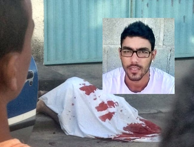 Jovem de 22 anos foi morto com 10 tiros em frente a família. (Foto: Rastro101)