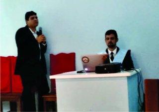 Dr. Pablo falou sobre assuntos importantes relacionados à saúde. (Foto: Loja Maçônica Augusto Gonçalves)