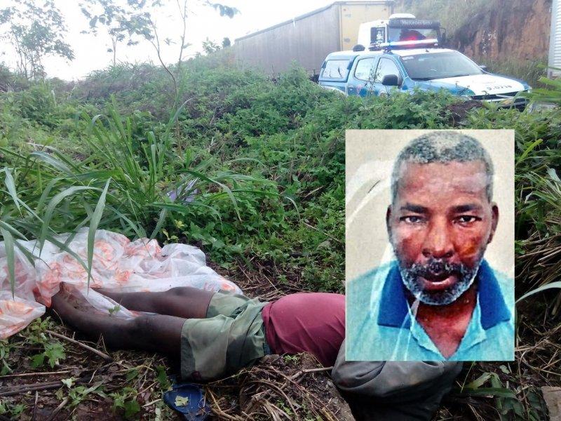 Corpo do homem de 47 anos estava caído às margens da BR-101 em Itagimirim. (Divulgação PC)